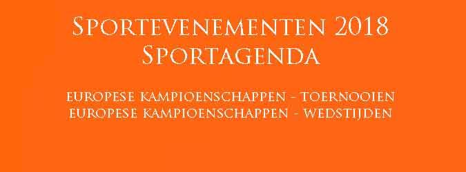 Sportevenementen 2018 Sportagenda