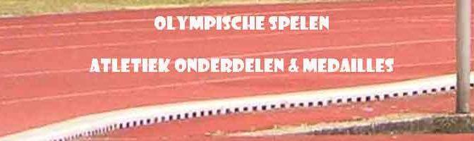 Atletiek Olympische Spelen Onderdelen