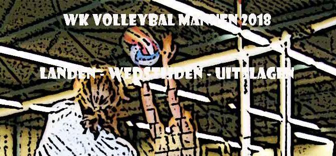 WK Volleybal Mannen 2018 Wedstrijden Programma Landen en Uitslagen