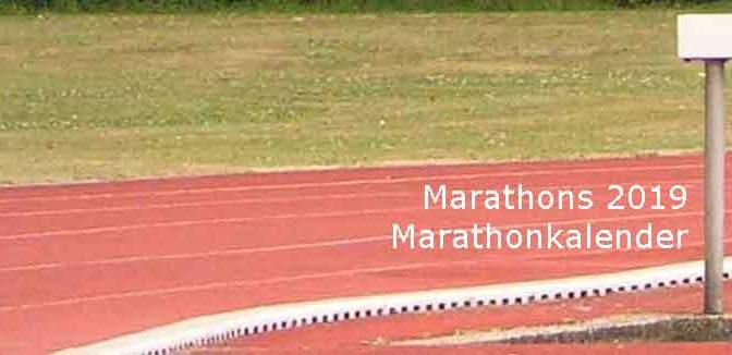 Marathons 2019 Marathonkalender